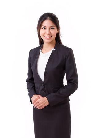 Geïsoleerd vertrouwen Aziatische zakenvrouw Stockfoto - 43848186