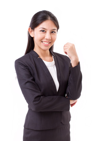 asian businesswoman: confident asian businesswoman isolated