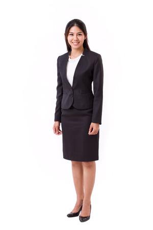 geïsoleerd vertrouwen Aziatische zakenvrouw Stockfoto