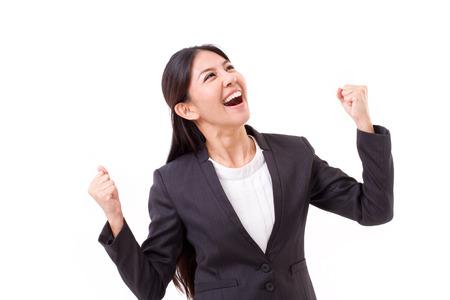 verlaten, succesvolle zakenvrouw te kijken