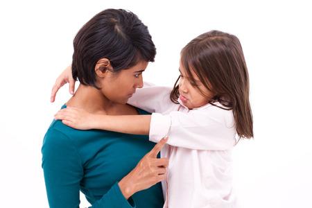 moeder onderwijs discipline aan haar dochter