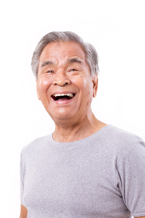 happy, laughing old man Stock Photo - 48627934