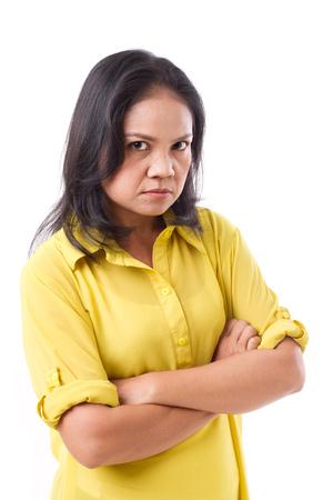 Colère femme d'âge moyen Banque d'images - 49007763