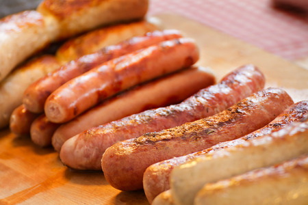 german: delicious sausage, grilled or bbq
