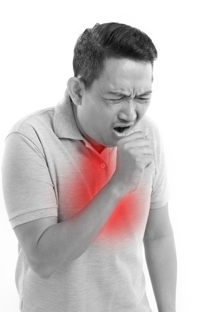 enfermos: hombre enfermo de tos
