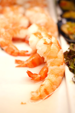 sizzle: shrimp, warm tone color Stock Photo