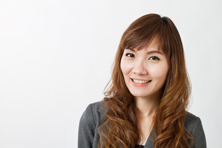 business asia: portrait of happy businesswoman Stock Photo