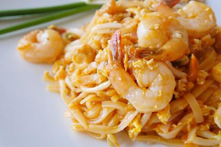 fried noodle: Thai style fried noodle, Pad Thai Stock Photo