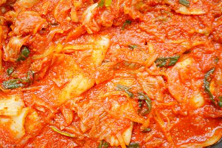 kimchi, korean fermented spicy cabbage