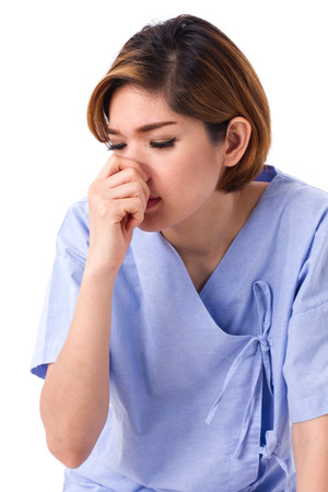 runny: woman catching a cold, runny nose