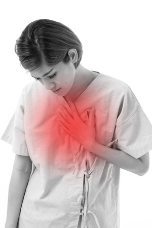 acid reflux: woman suffering from acid reflux or GERD