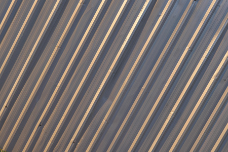 line material: metal sheet background, diagonal line concept of industrial, architectural, robust material backdrop