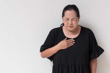 woman suffering from acid reflux, gerd