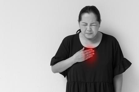 esophageal: woman suffering from acid reflux, gerd