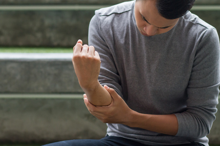 man suffering from joint pain, arthritis, gout, rheumatoid symptoms
