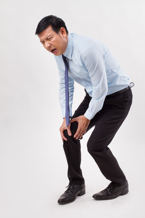 Man suffering from knee joint pain