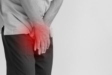 sick man prostate cancer, prostate inflammation, premature ejaculation, fertility, erection or bladder problem Foto de archivo