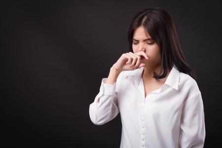 kobieta łapie przeziębienie, katar Zdjęcie Seryjne