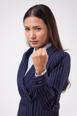 confident strong business woman isolated Фото со стока