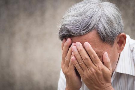 sick stressed failed old senior man