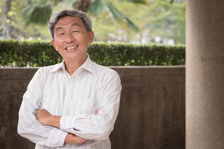 happy smiling confident senior man portrait