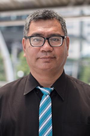 old south east asian business man face Banco de Imagens