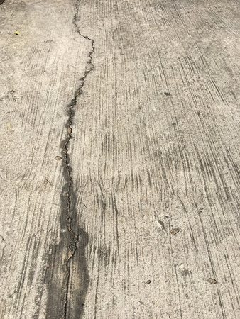 crack: Concrete floor with crack Stock Photo