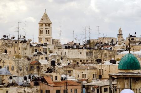 holy land: From Mount Scopus, Jerusalem view, Holy Land Stock Photo