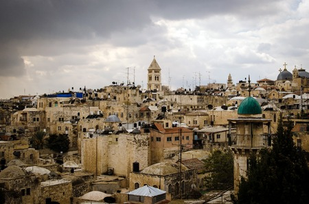 holy land: From Mount Scopus, Jerusalem view, Holy Land Stock Photo