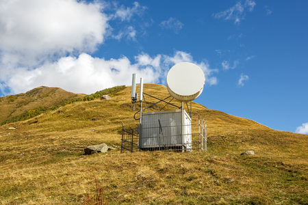 hygrometer: Observatory and meteorological station in the mountains. Georgia Stock Photo