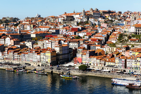 side view of the capital of Portugal, Porto Stock Photo