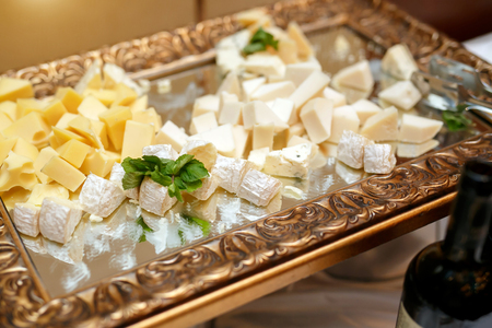 Cheese plate on event catering.