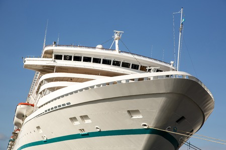 The nose of a sea ruise liner, travel ship Standard-Bild - 111326823