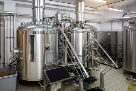 Equipment for brewing beer. Small brewery,craft beer production