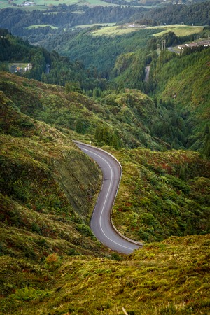 Road in the mountains. View from above Reklamní fotografie