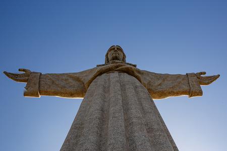 Top of statue Cristo Rei in Lisbon, Portugal Reklamní fotografie - 123711648