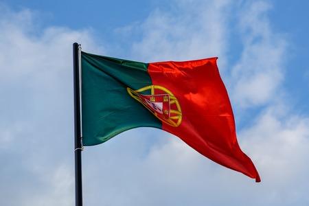 Evolving Portuguese flag, clouds Reklamní fotografie - 123712121