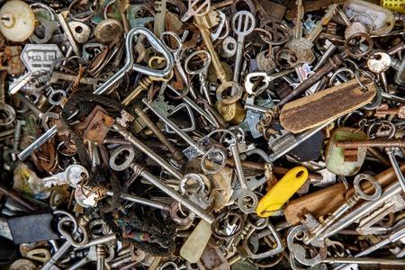A lot of vintage keys Reklamní fotografie - 123712128