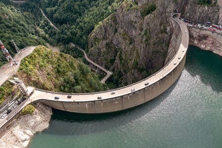 Dam in the mountains, Romania