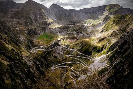 The best driving track in the world. Transfagarasan, Romania Stock fotó