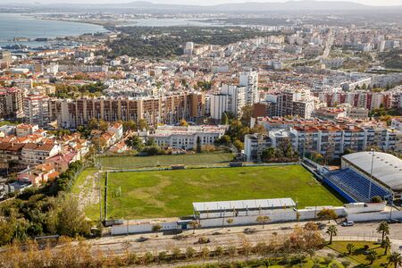 Amateur football field in Portugal city