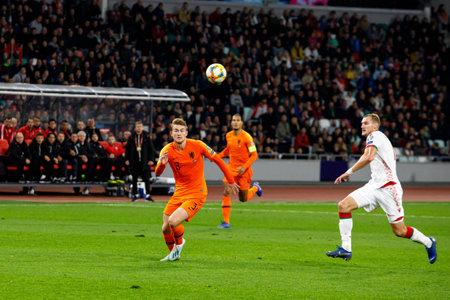 Minsk, Belarus - October 13, 2019 : UEFA European Qualifiers 2020. Matthijs de Ligt in the match against Belarus Sajtókép