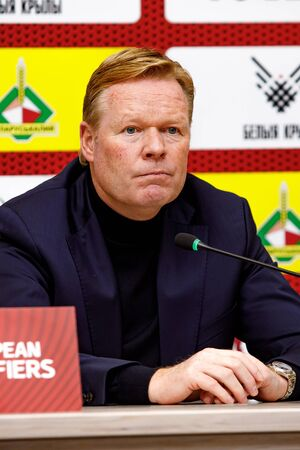Minsk, Belarus - October 13, 2019 : UEFA European Qualifiers 2020. Netherlands coach Ronald Koeman portrait