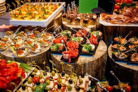 Catering food, A lot of different snacks
