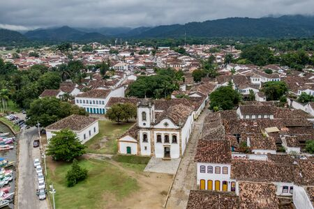 Brazilian colonial city of Paraty, aerial view Reklamní fotografie