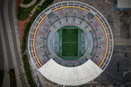 Round sports stadium top view Stock Photo