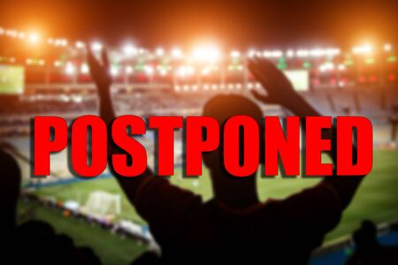 The concept of postponement of sports events. Stock fotó