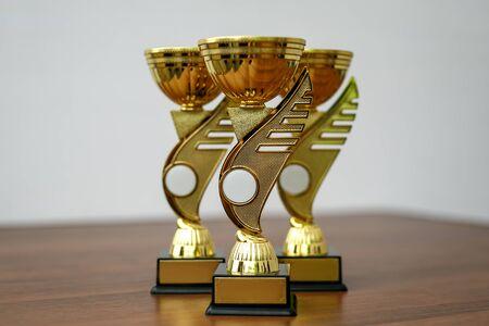 Winners cups on the table. Standard-Bild