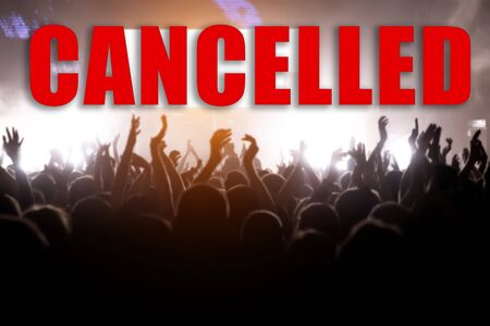 Event cancellation concept with a large number of viewers Stock fotó