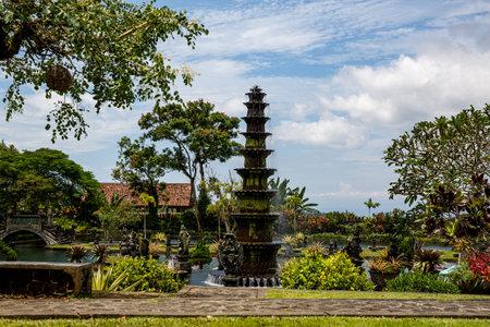 Travel destination. Water Palace of Tirta Gangga in East Bali, Indonesia